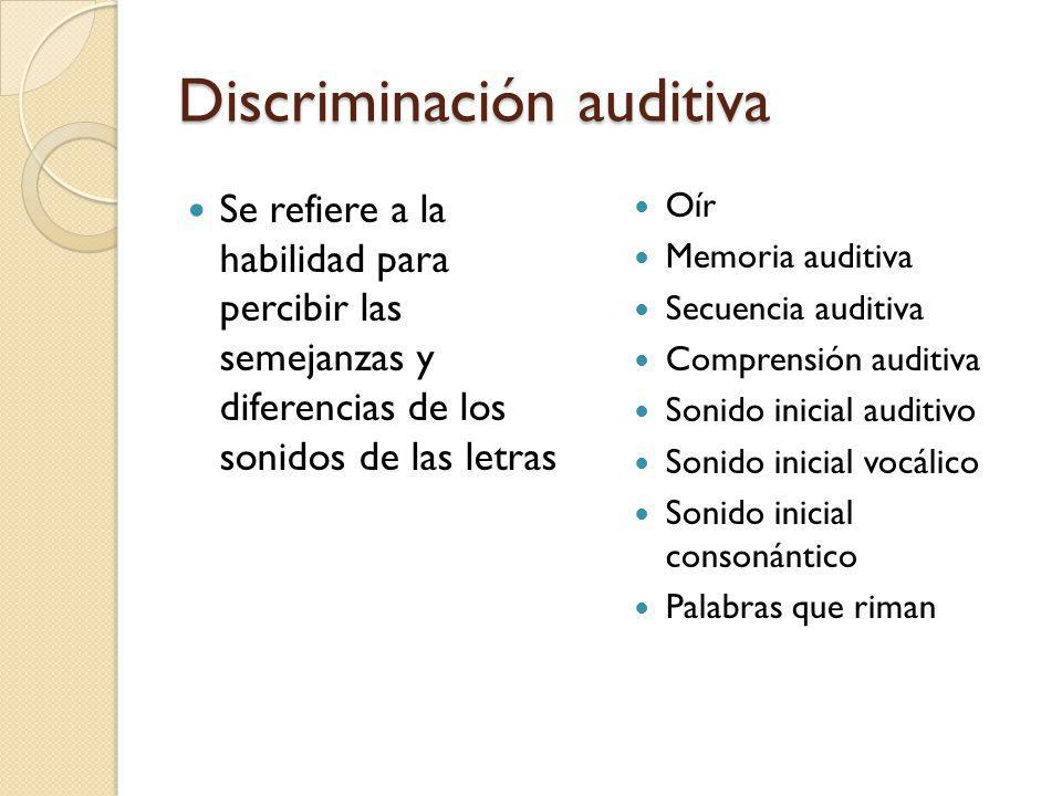 Discriminación auditiva