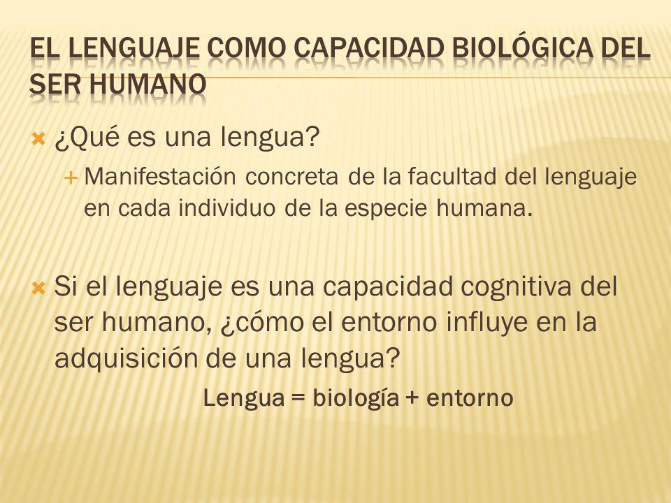 El lenguaje como capacidad biológica del ser humano