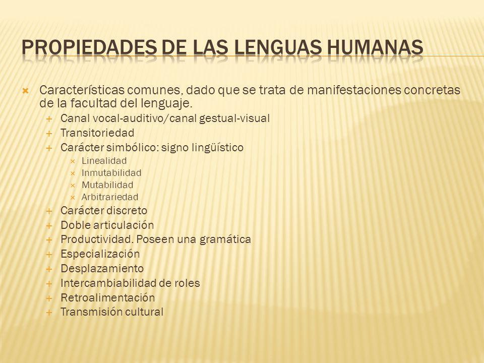 Propiedades de las lenguas humanas