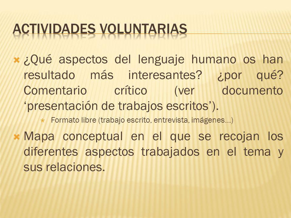 Actividades voluntarias