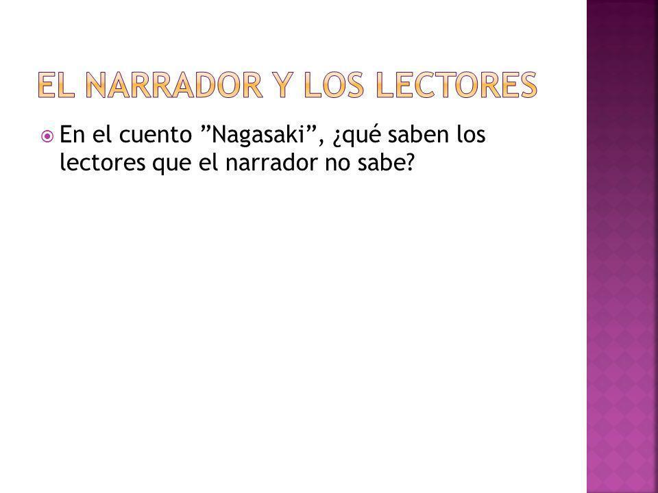 EL NARRADOR Y LOS LECTORES