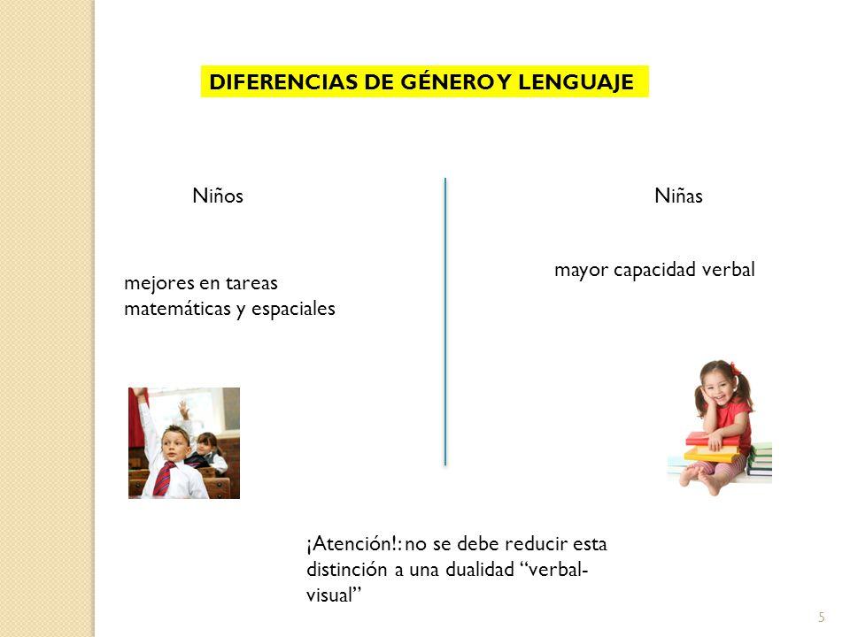 DIFERENCIAS DE GÉNERO Y LENGUAJE