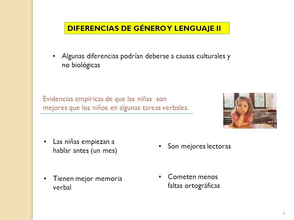 DIFERENCIAS DE GÉNERO Y LENGUAJE II