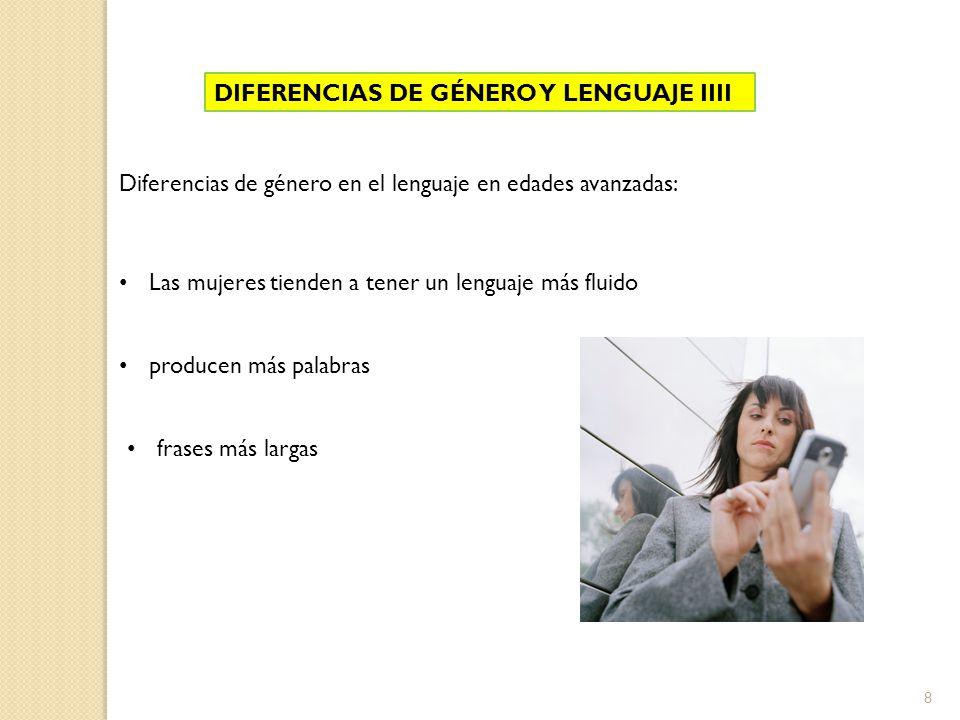 DIFERENCIAS DE GÉNERO Y LENGUAJE IIII