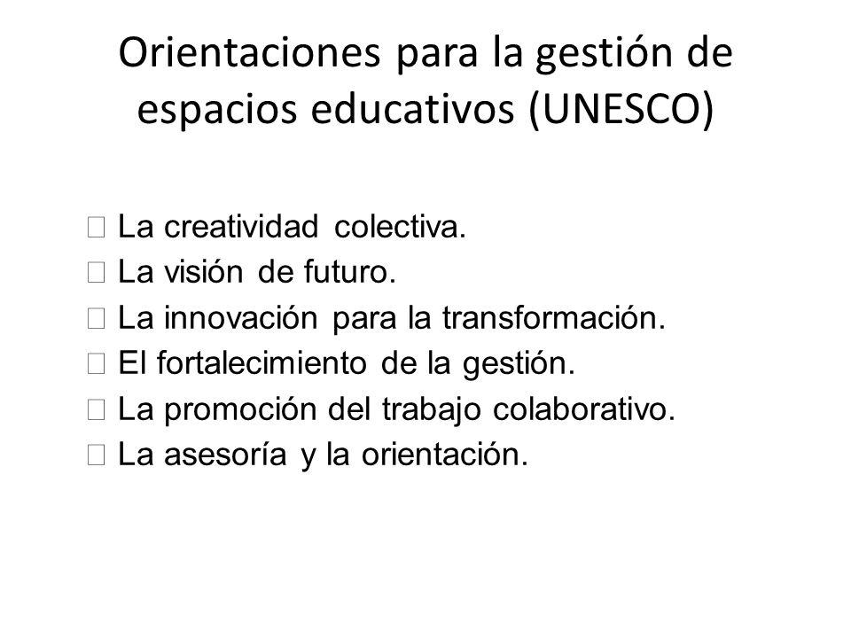Orientaciones para la gestión de espacios educativos (UNESCO)