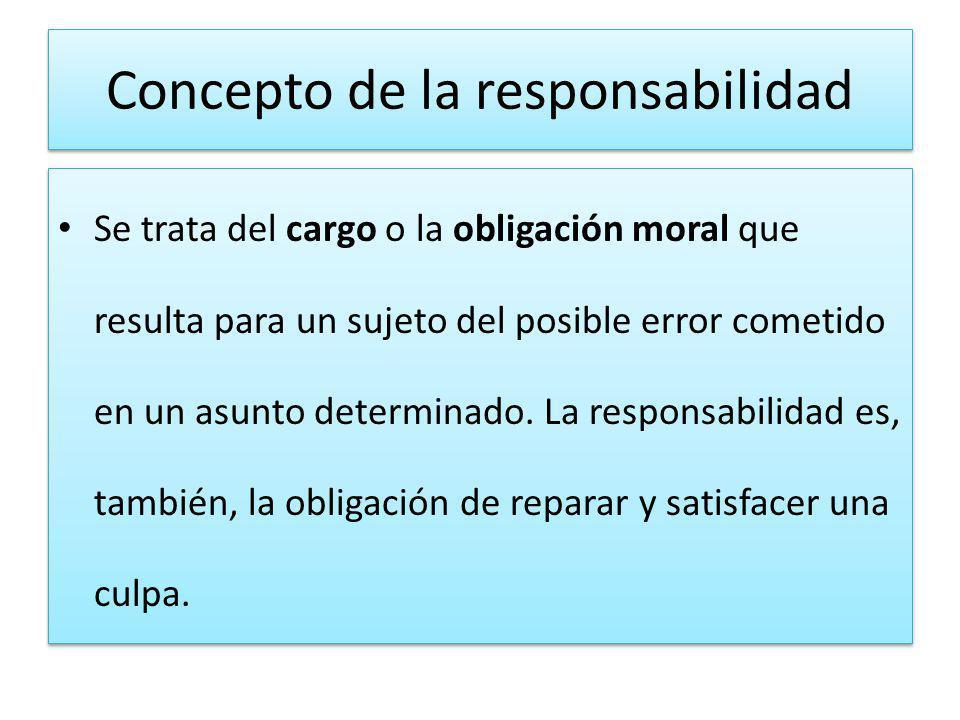 Concepto de la responsabilidad