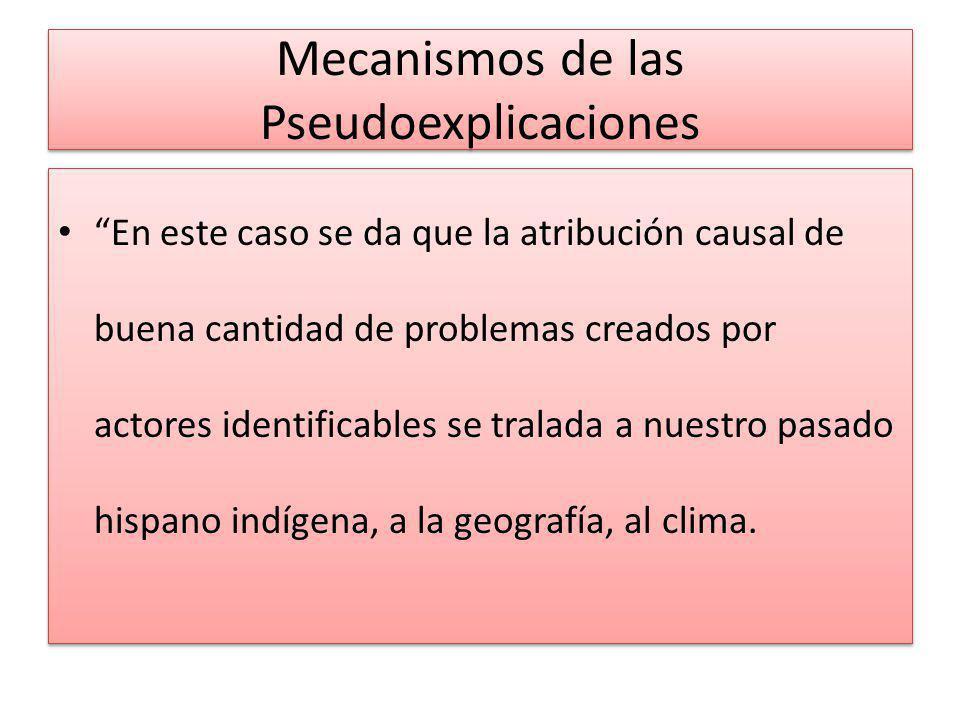 Mecanismos de las Pseudoexplicaciones