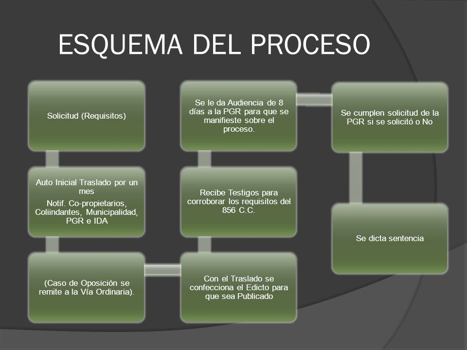 ESQUEMA DEL PROCESO Solicitud (Requisitos)
