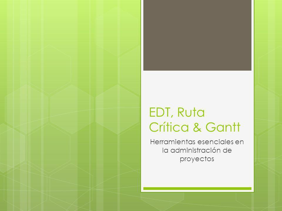 EDT, Ruta Crítica & Gantt