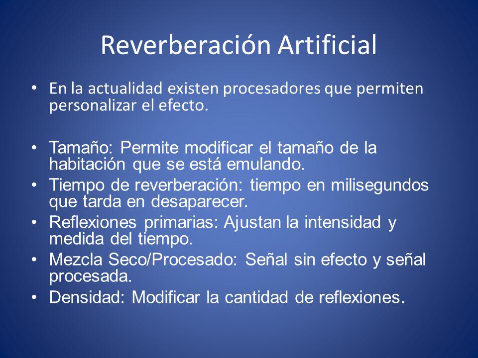 Reverberación Artificial