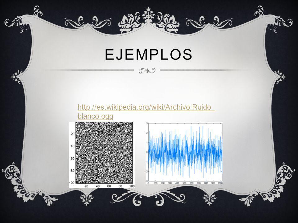 EJEMPLOS http://es.wikipedia.org/wiki/Archivo:Ruido_blanco.ogg