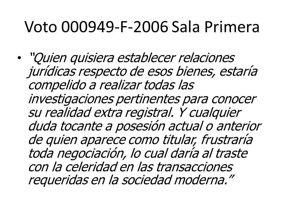 Voto 000949-F-2006 Sala Primera
