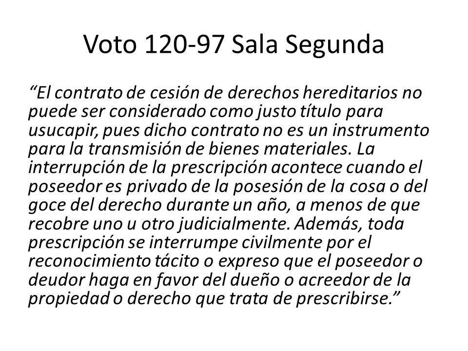 Voto 120-97 Sala Segunda