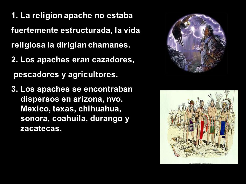 La religion apache no estaba