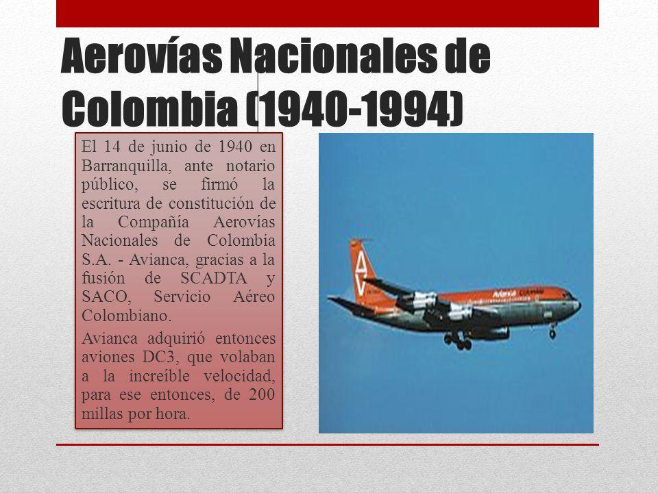 Aerovías Nacionales de Colombia (1940-1994)