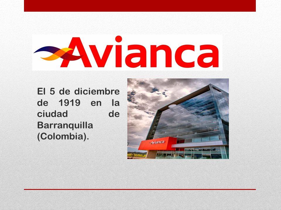 El 5 de diciembre de 1919 en la ciudad de Barranquilla (Colombia).