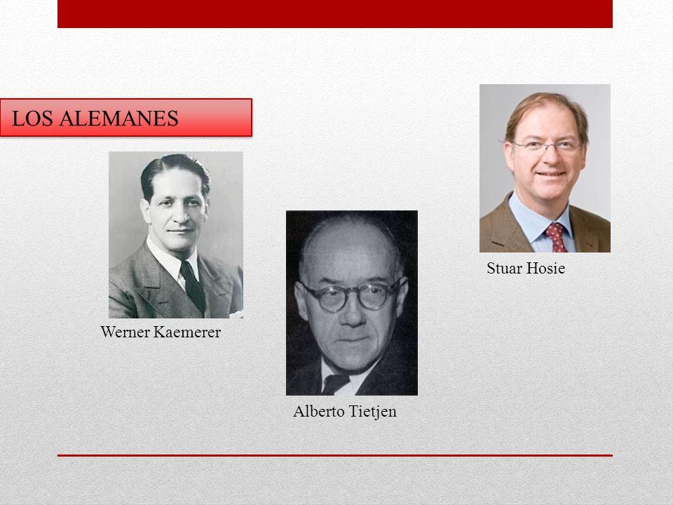 LOS ALEMANES Stuar Hosie Werner Kaemerer Alberto Tietjen