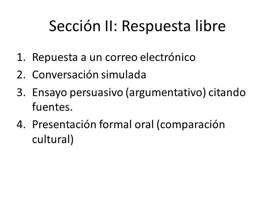 Sección II: Respuesta libre
