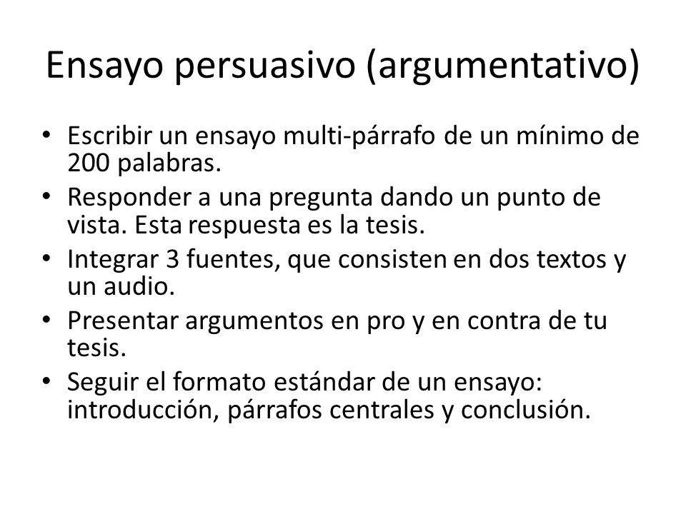 Ensayo persuasivo (argumentativo)