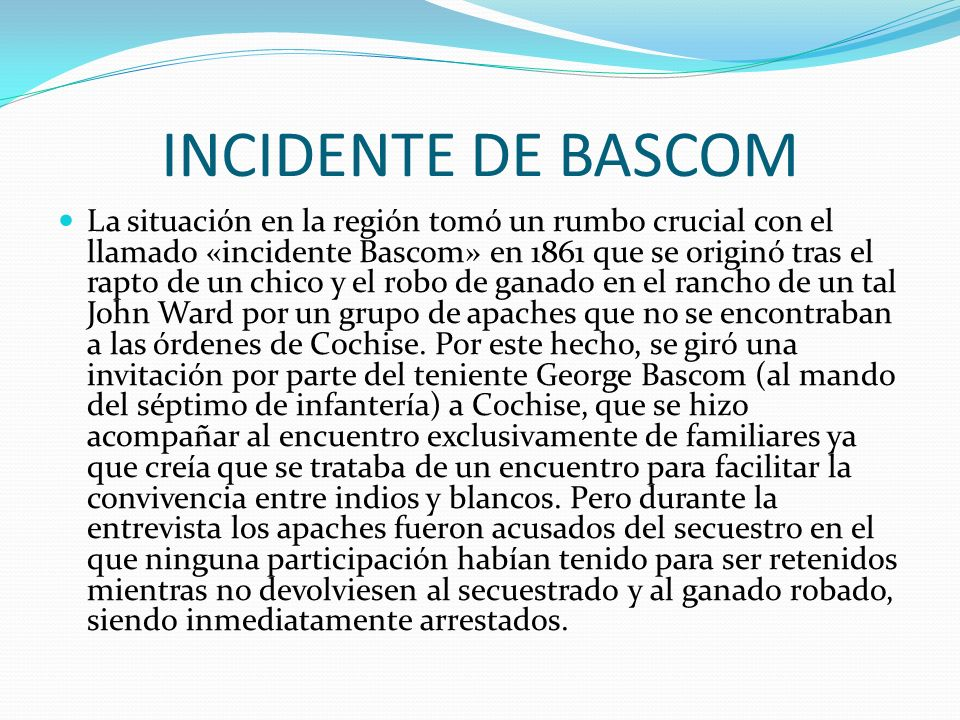 INCIDENTE DE BASCOM