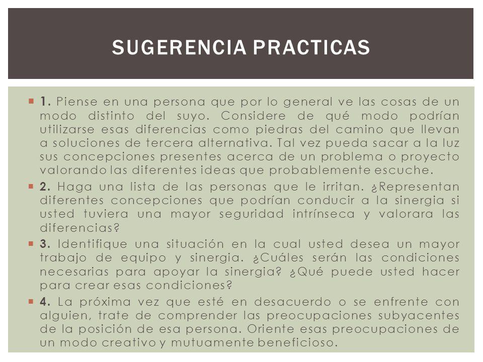 Sugerencia practicas