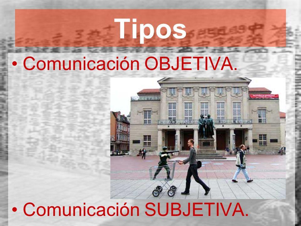 Tipos Comunicación OBJETIVA. Comunicación SUBJETIVA.