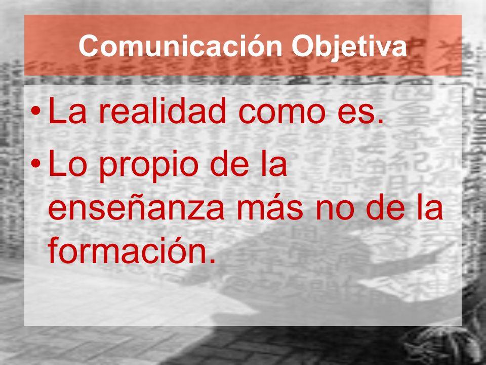 Comunicación Objetiva