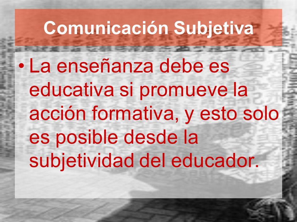 Comunicación Subjetiva