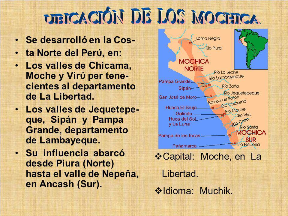 UBICACIÓN DE LOS MOCHICA