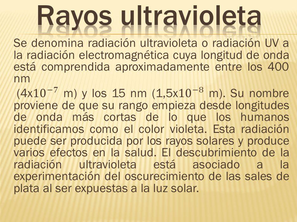 Rayos ultravioleta