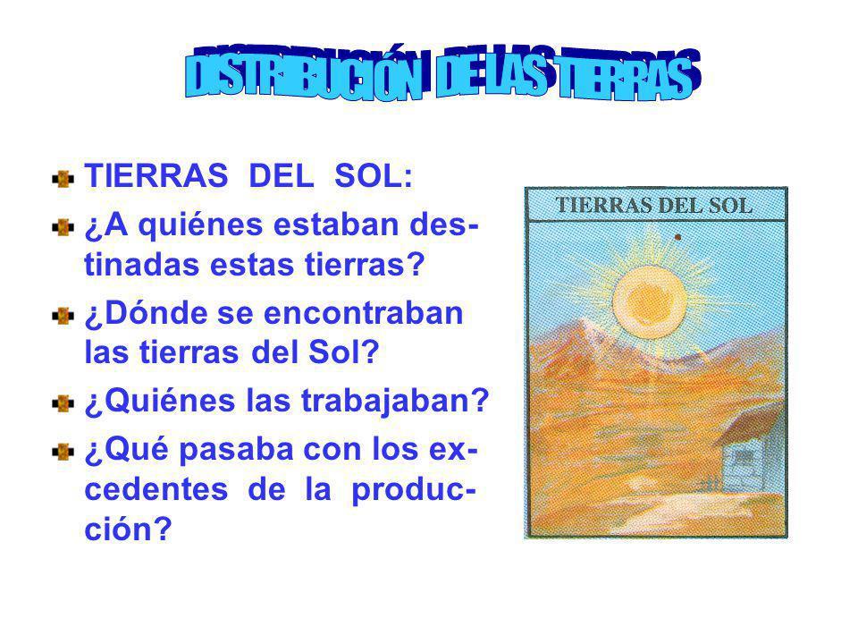 DISTRIBUCIÓN DE LAS TIERRAS