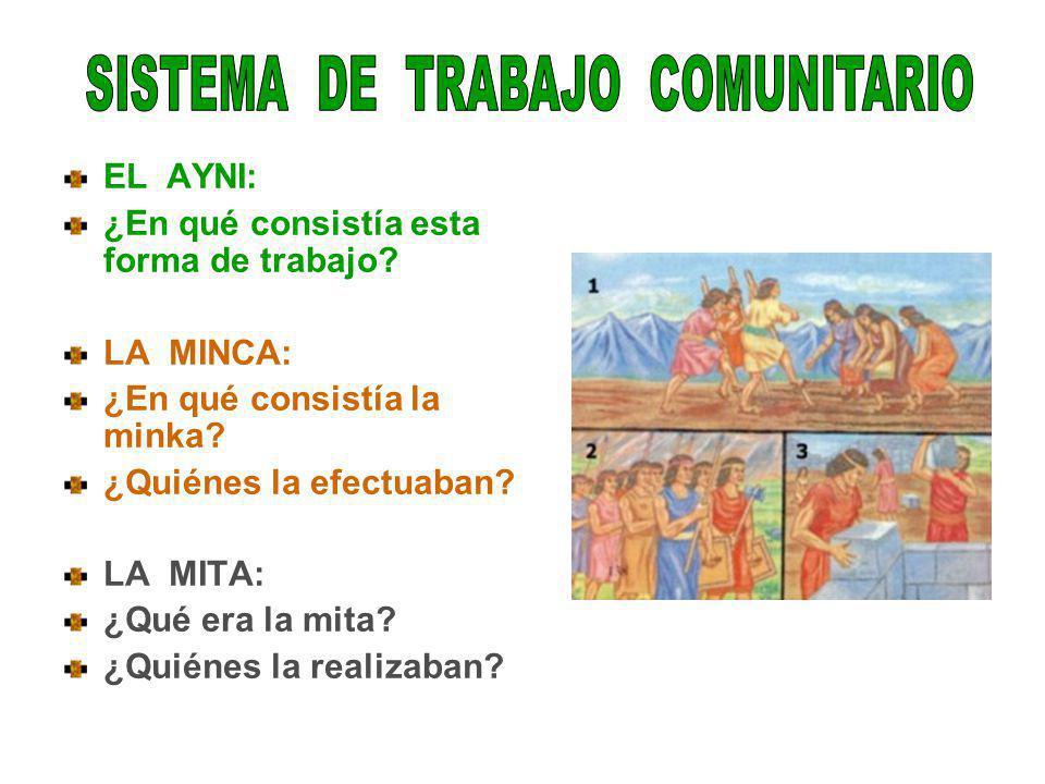 SISTEMA DE TRABAJO COMUNITARIO