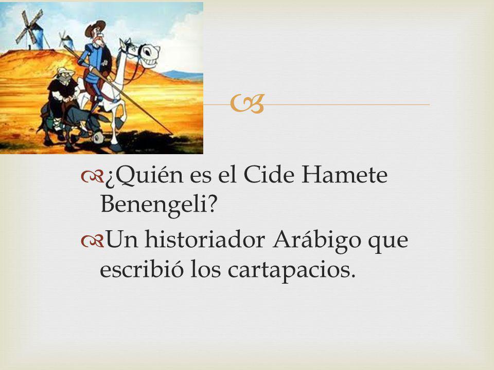 ¿Quién es el Cide Hamete Benengeli