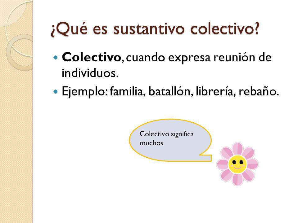 ¿Qué es sustantivo colectivo