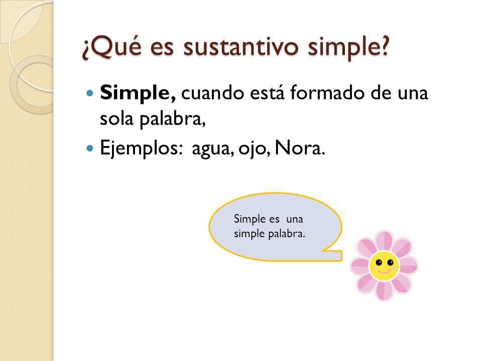 ¿Qué es sustantivo simple