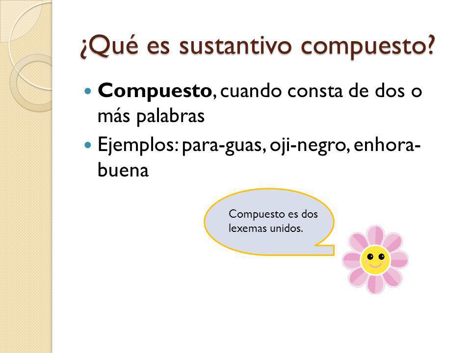 ¿Qué es sustantivo compuesto