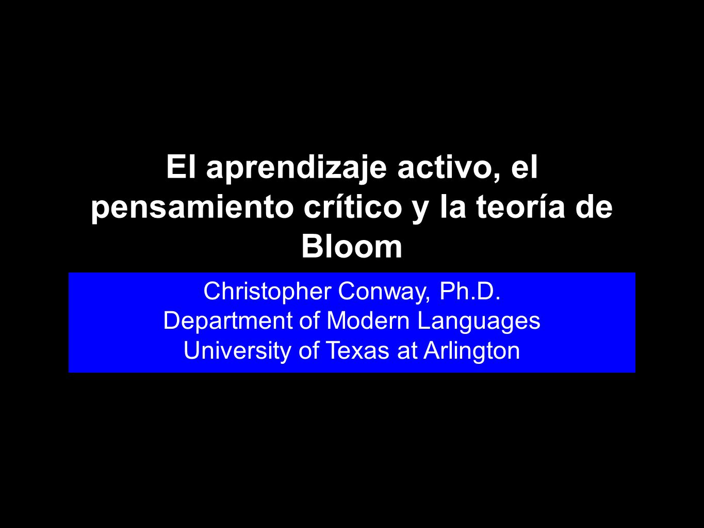 El aprendizaje activo, el pensamiento crítico y la teoría de Bloom