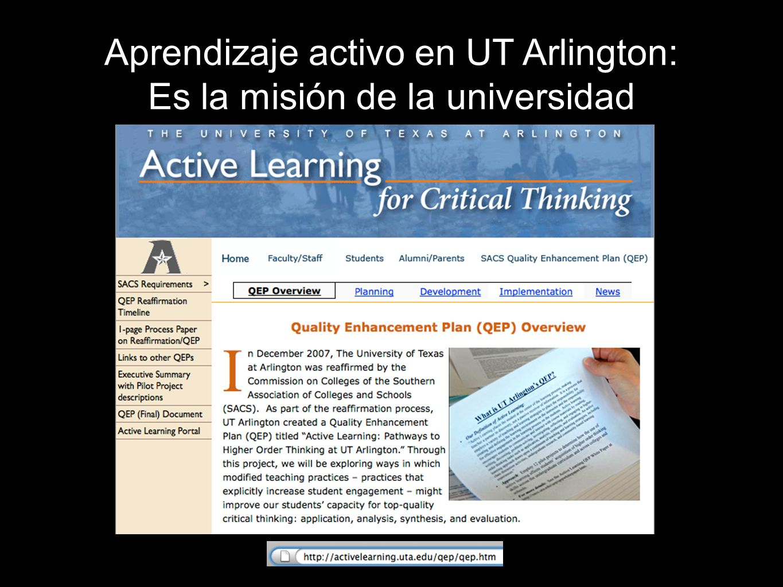Aprendizaje activo en UT Arlington: Es la misión de la universidad