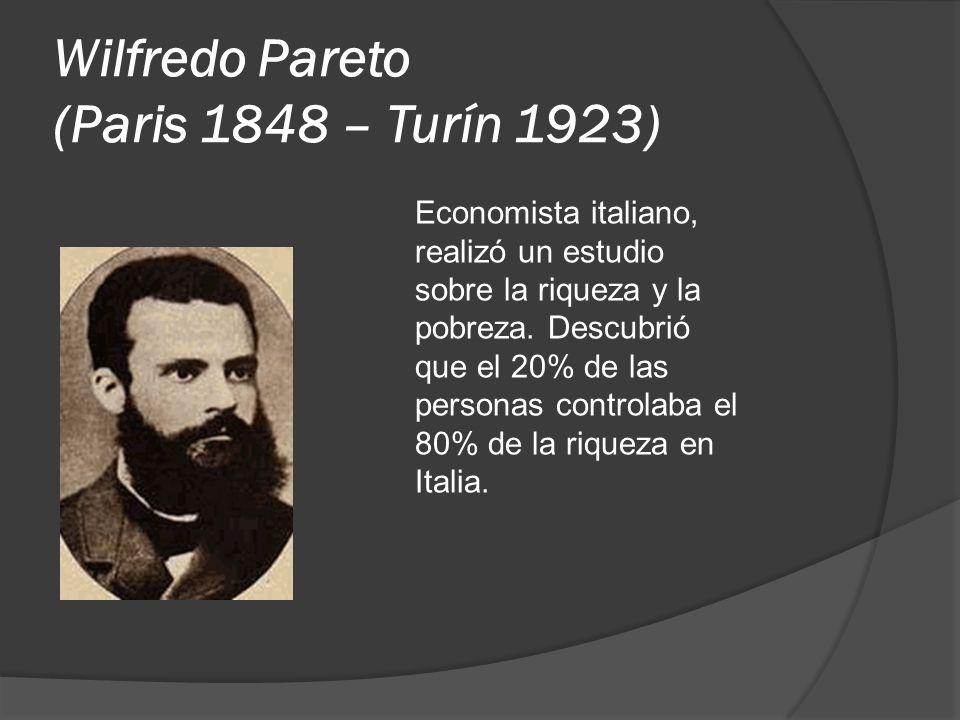 Wilfredo Pareto (Paris 1848 – Turín 1923)