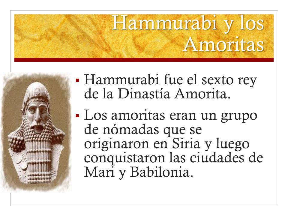 Hammurabi y los Amoritas