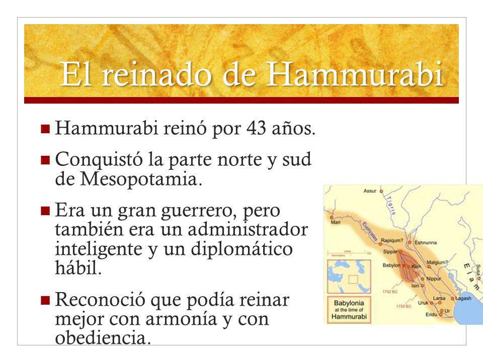 El reinado de Hammurabi