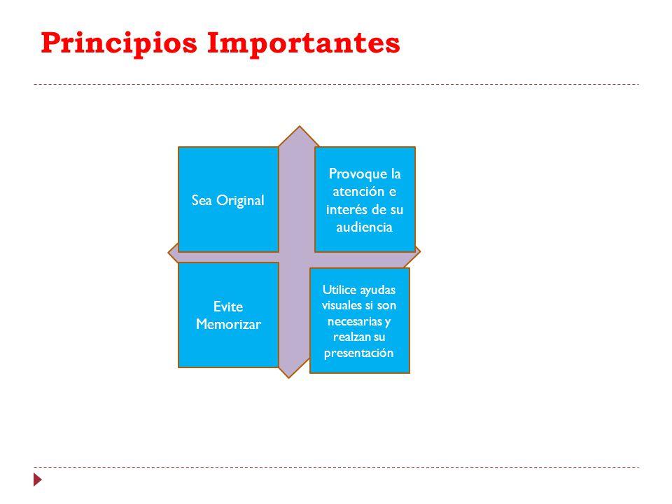 Principios Importantes