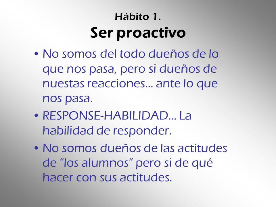 RESPONSE-HABILIDAD… La habilidad de responder.