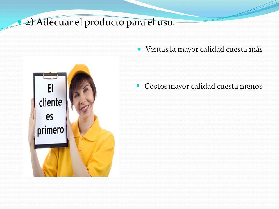 2) Adecuar el producto para el uso.