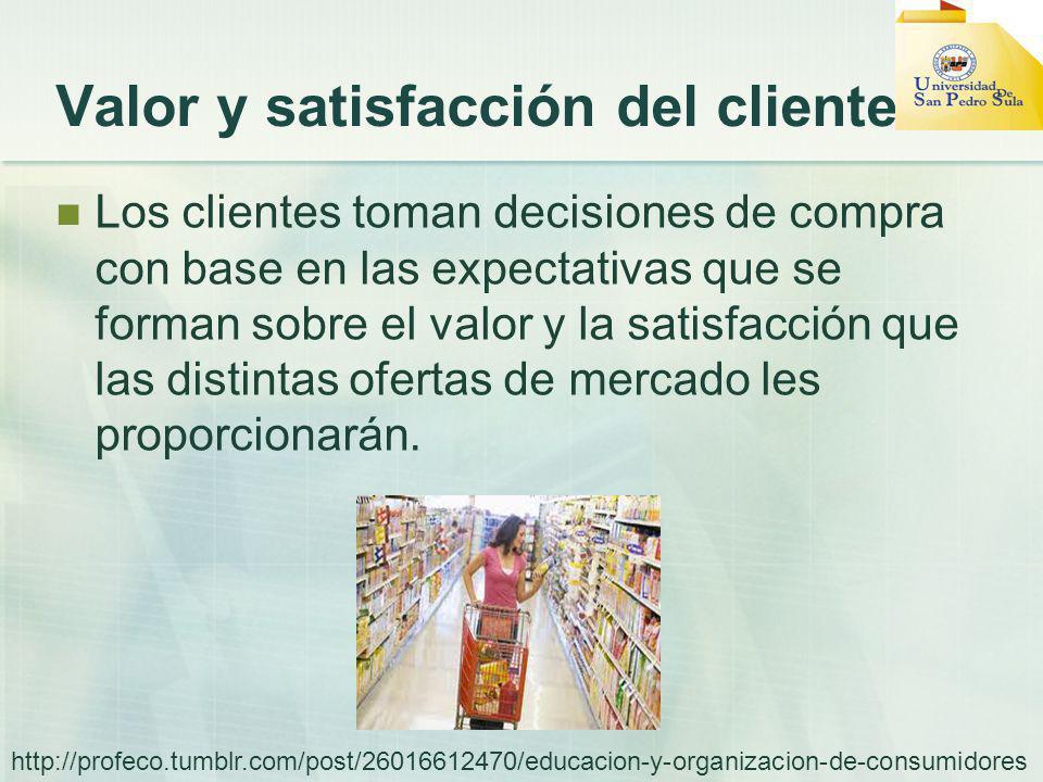 Valor y satisfacción del cliente