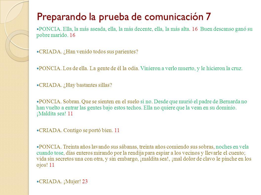 Preparando la prueba de comunicación 7