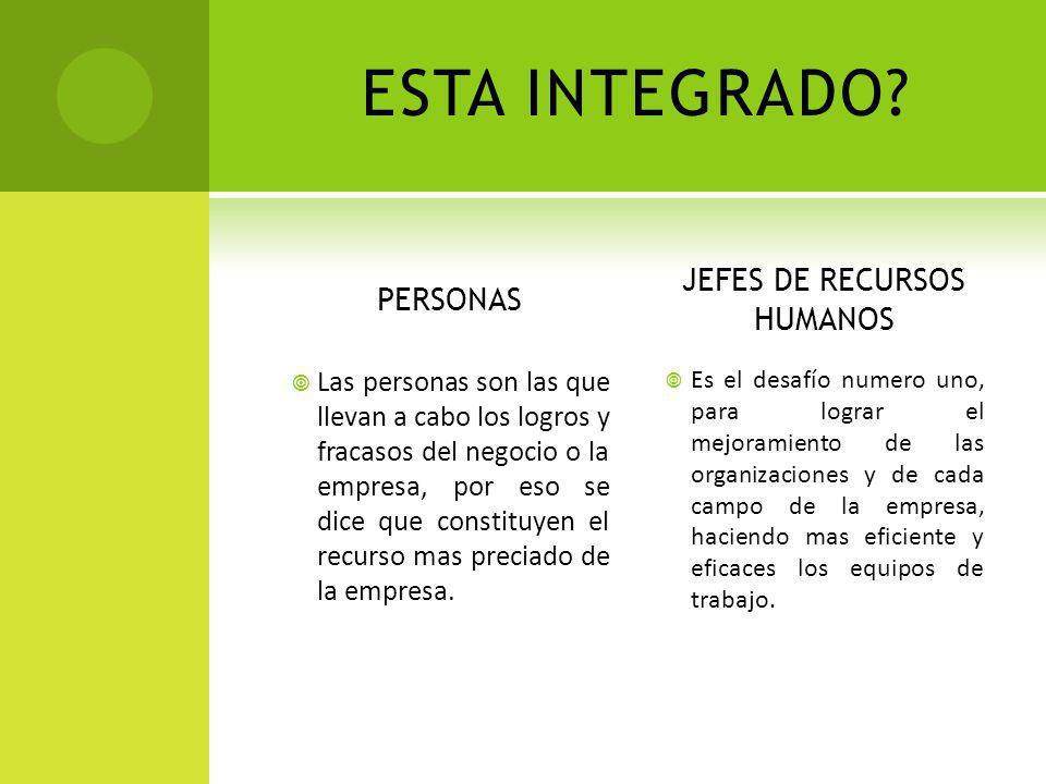 JEFES DE RECURSOS HUMANOS