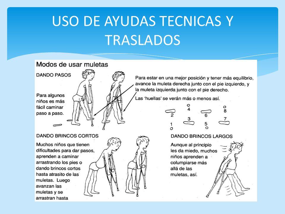 USO DE AYUDAS TECNICAS Y TRASLADOS