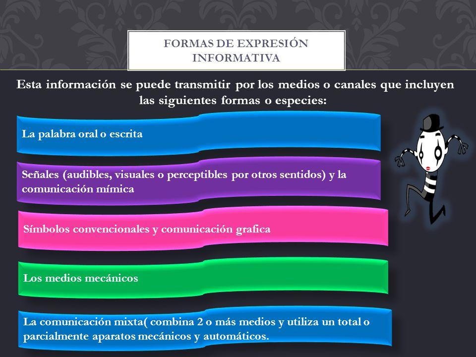 Formas de expresión informativa