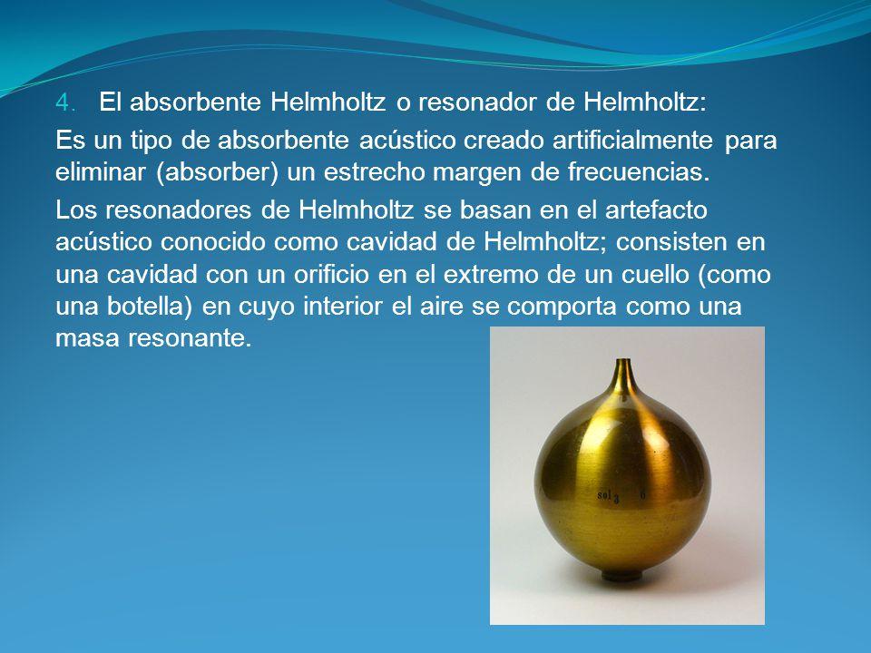El absorbente Helmholtz o resonador de Helmholtz: